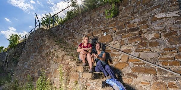 Rast auf der Weinbergstreppe