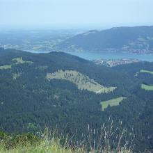 Blick vom Ochsenkamp zum Tegernsee