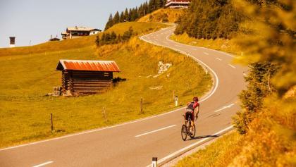 Rennradfahrer in der Region Hochkönig