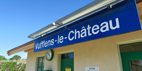 Bahnhof von Vufflens-le-Château.