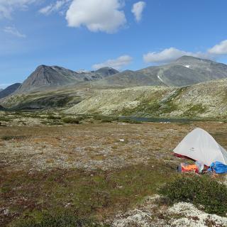 Camp nahe der Rondevassbu-Hütte
