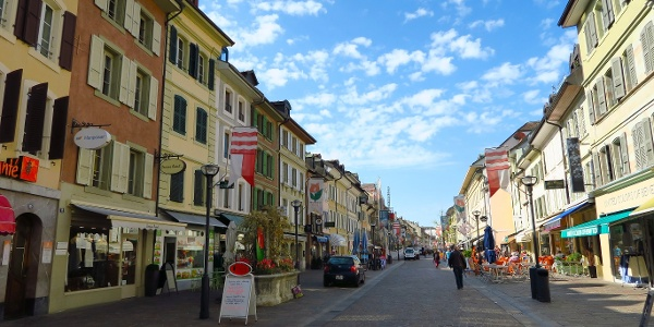 In der Altstadt von Morges.