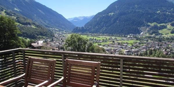 Terrasse Blick Silvretta