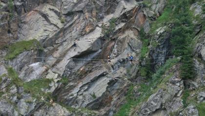 2. Seilbrücke zur Austiegswand
