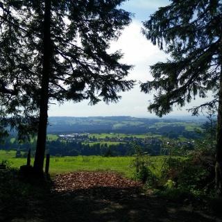 Blick vom Balzer Berg über Ellhofen