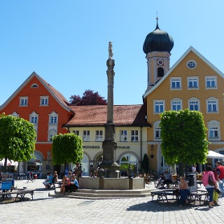 Marienplatz in Immenstadt im Allgäu