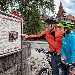 Radweg Industriegeschichte an der Laufer Kaiserburg