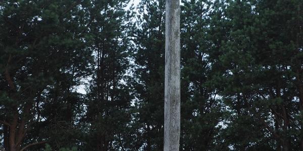 Kříž na vrcholu Tisové hory