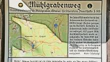 Mühlgrabenweg und Schopf von Grandsberg