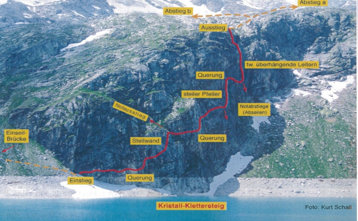 Klettersteig Map : Kristall klettersteig e Österreichs wanderdörfer