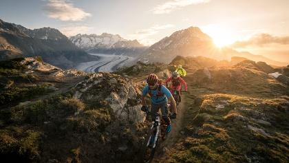 Mountainbiken in der Aletsch Arena