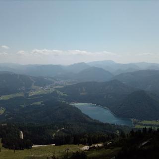Gemeindealpe, Blick ins Tal