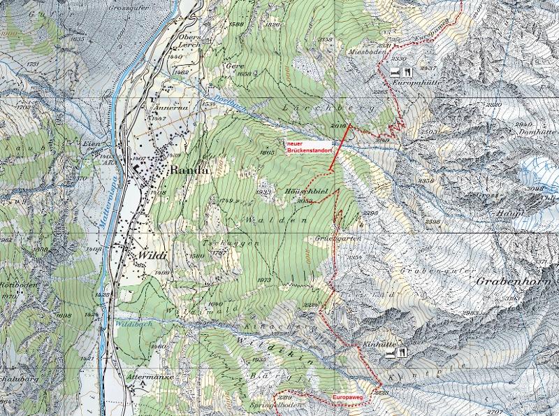 Circular Hike To The Suspension Bridge In Randa Zermatt Switzerland: Randa Switzerland Map At Slyspyder.com