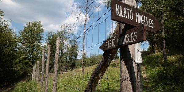 Útmutatás a mátraszentimrei állatpark déli sarkán