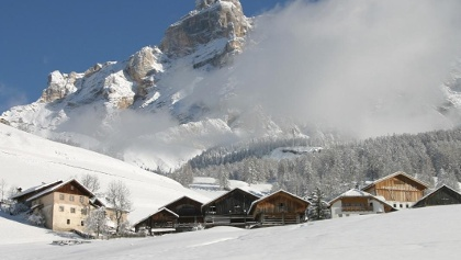 Ladin framhouses on the larch path in San Cassiano - Alta Badia