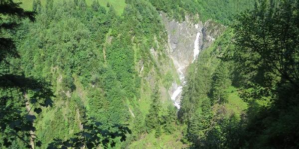 Blick auf den Simms-Wasserfall