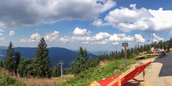 Herrlicher Ausblick vom Ötscherschutzhaus Richtung Lackenhof