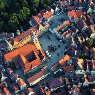 Die Große Kreisstadt Öhringen von oben