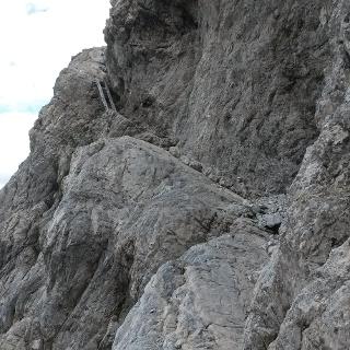 Klettersteig-Ost über das große Schrägband