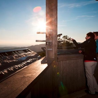 Panoramaaubblick vom Pavillon am Höchsten