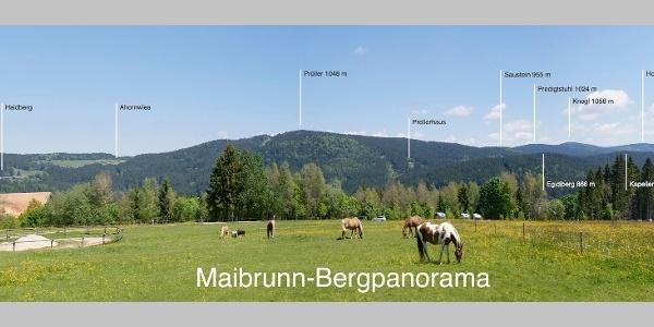 Bergpanorama von Maibrunn