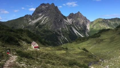 Blick zum Widderstein und Sterzerhütte