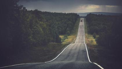 Driving in Finnish Lapland