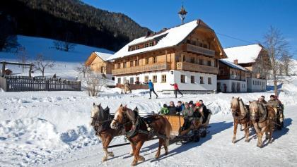 Pferdeschlittenfahrt ins Obertal zur Windbacherstube