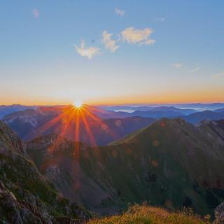 Sonnenaufgang auf 2.130 M