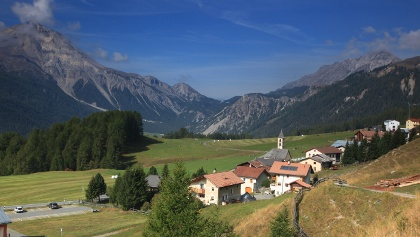 Blick auf das Dorf Lü.