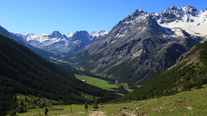 Im Abstieg zur Alp Mora.