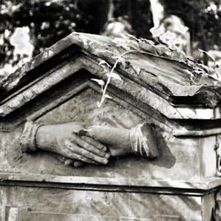 Grabstein auf dem Jüdischen Friedhof auf dem Eichelberg/Obergrombach