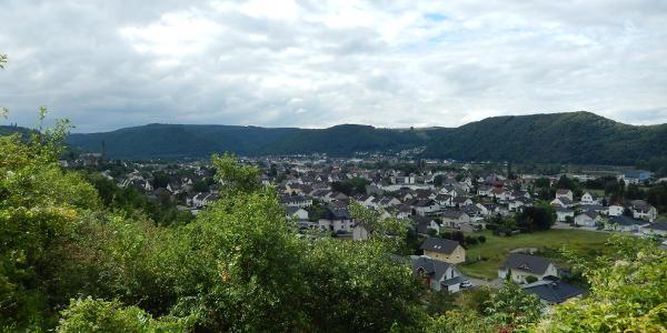 Blick auf Rheinbrohl