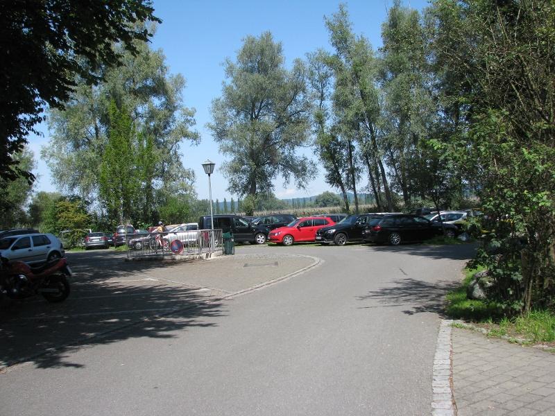 Parkplatz in Moos