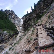 Wasserfall auf dem Weg zum Strudelkopf