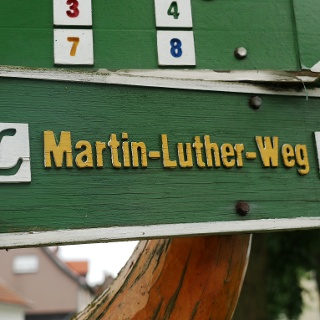 Beschilderung Lutherweg
