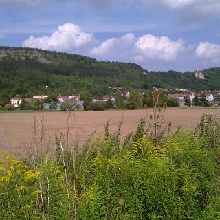 Blick nach Treffurt, der Burg Normannstein und Adolfsblick