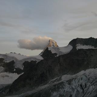 Blick auf das Matterhorn von der Rothornhütte