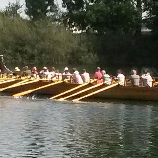 Römerboot Lusoria Rhenana in Aktion