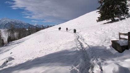 Gepflegter Winterwanderweg zum Niesenbänkli.