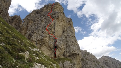 Routenverlauf vom Zustieg und Abstieg aus