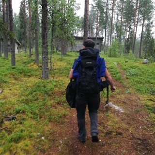 Walk to the bear watching cabin