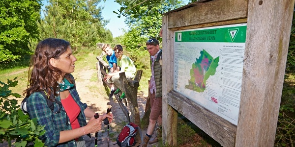 Informationstafel zum Naturschutzgebiet