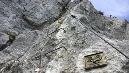 Einstieg Klettersteig Schuastagangl