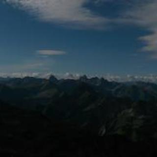 Panoramablick vom Nebelhorn