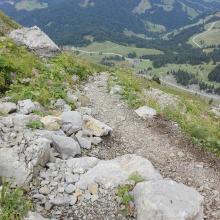 Bergweg vor der hütte