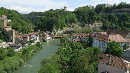 Die Unterstadt von Fribourg an der Saane.