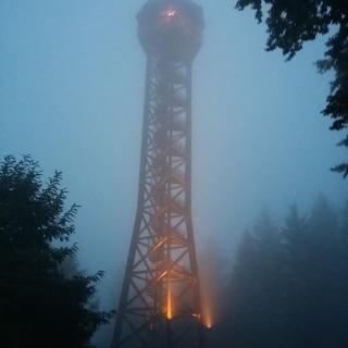 Teltschikturm im Nebel