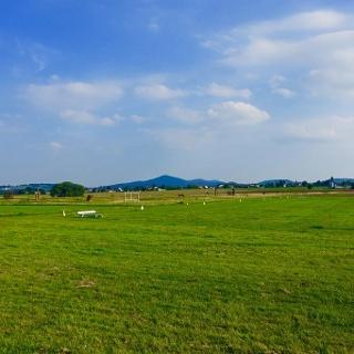 Der Blick über die Fußballgolf-Anlage in Vinxel