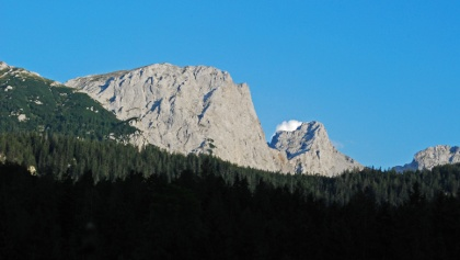 Der Große Griesstein im Nachmittagslicht von Siebenseen aus